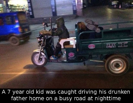 Chinese-boy-drives-drunk-father-home